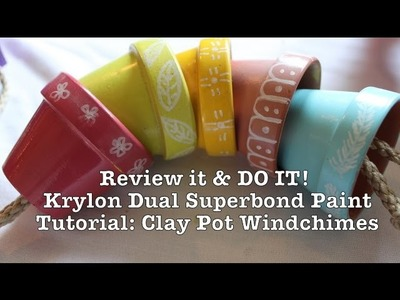 Review It & DO IT: Krylon Part 2; Clay Pot Windchime Tutorial