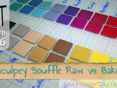 Sculpey Souffle Polymer Clay - Raw vs. Baked Color Shifts