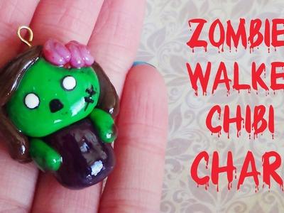 Zombie.Walker Chibi Charm- Polymer Clay
