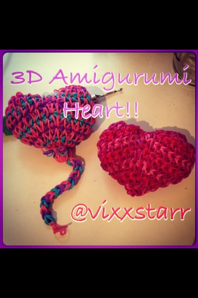3d Heart Squishy Valentine Balloon Beginners Loomigurumi (Rainbow Loom Amigurumi Tutorial)