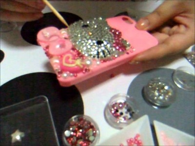 Bling iphone 4 - Cute & Sweet hello kitty deco
