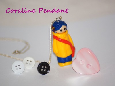 Coraline Pendant - Polymer Clay