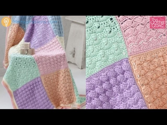 Crochet Baby Sampler Block 2 Tutorial