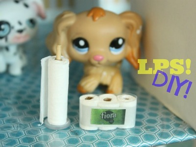 DIY LPS How to make miniature toilet paper and paper towel