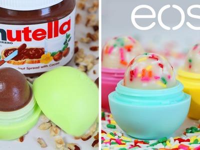 DIY- NUTELLA & CUPCAKE EOS (LIP BALM)