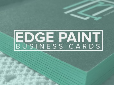 Edge painted Business cards (DIY)