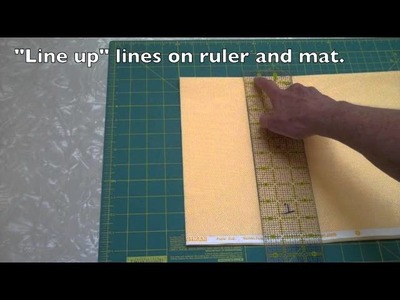 ELEMENTARY QUILT-- Cut Many Squares with Rotary Cutter (#8 of 16) - LearnHowToQuilt.com CLASSES