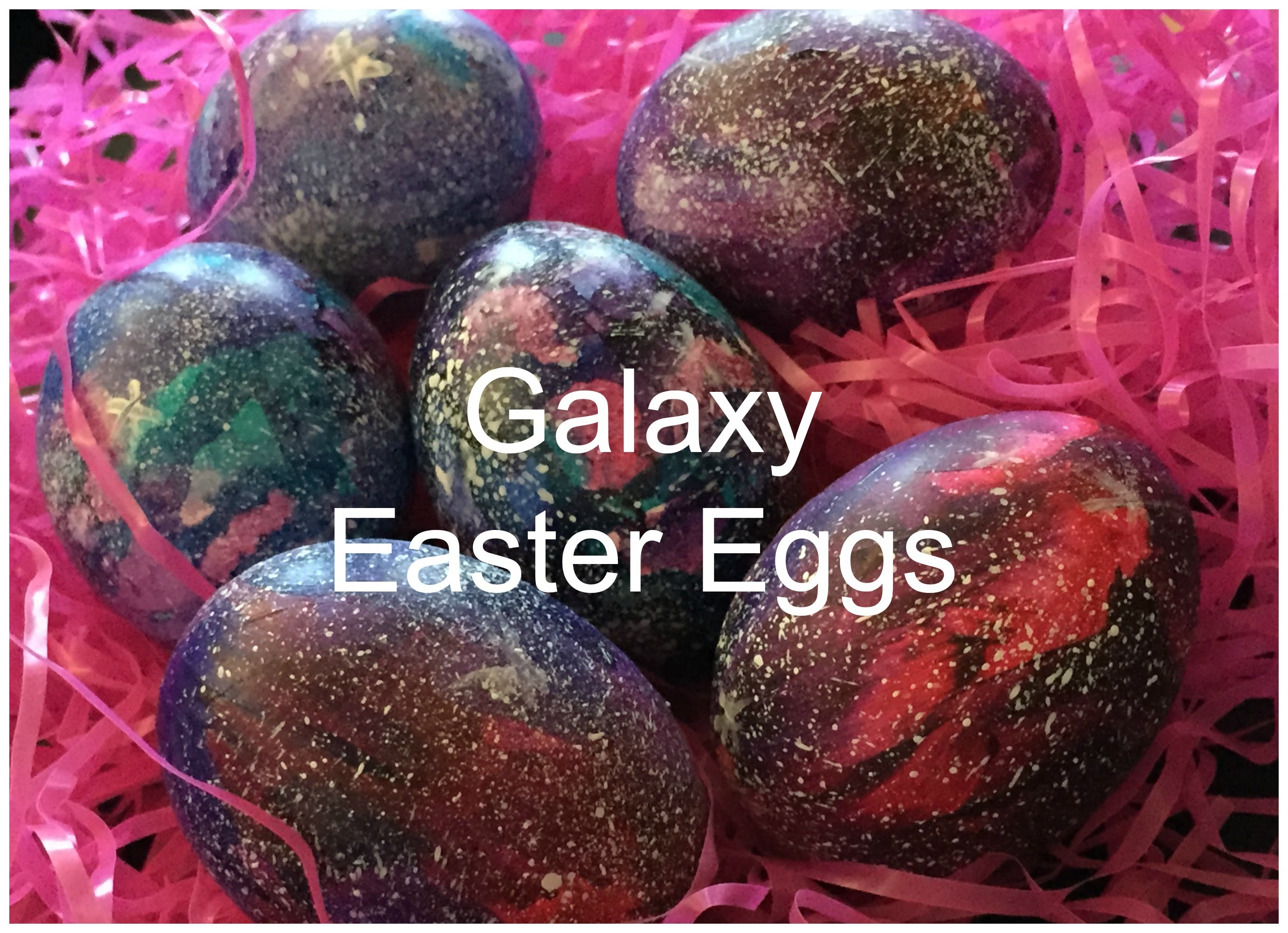 Galaxy Easter Eggs ♡ {Egg Decorating} ♡ Jessica Joaquin