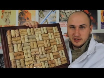 Homemade Cork Board out of Wine Corks