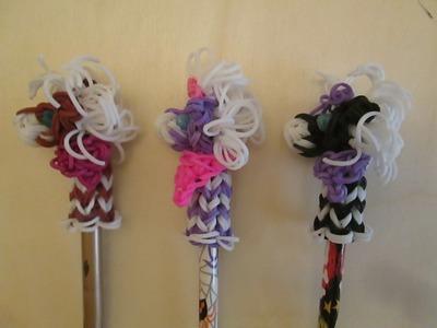 Horse or Pony Pencil Topper. Hugger. Rainbow Loom