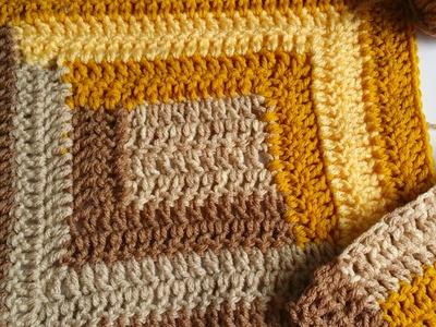 How to Crochet Log Cabin motif