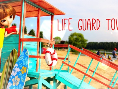 How to Make a Doll Lifeguard Tower - Doll Crafts