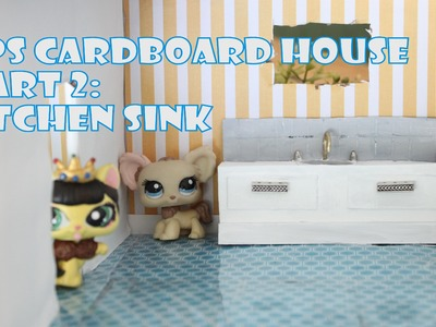 How to make an EASY LPS house | Part 2 DIY Miniature Kitchen Counter and Soap Dispenser