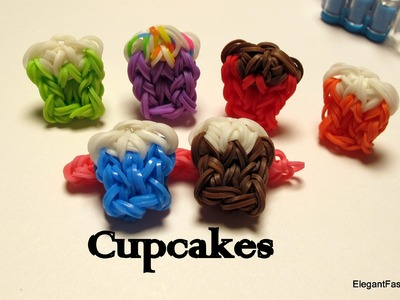 How to make Cupcake charm -Rainbow Loom- Food Series