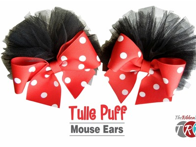 How to Make Tulle Puff Mouse Ears - TheRibbonRetreat.com