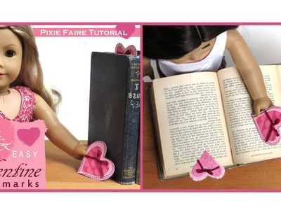 How To Make Valentine Bookmarks for American Girl Dolls - Liberty Jane