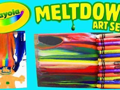 MELTING CRAYONS! Crayola Meltdown Art Set + Fun Paintings DIY Crafts for Kids DisneyCarToys