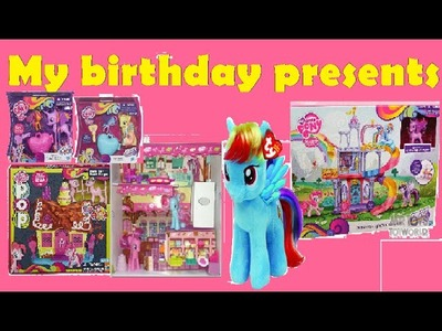 My Birthday Presents of My Little Pony Rainbow Power and Peluche