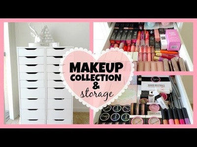 My Makeup Collection & Storage! ♡ 2014