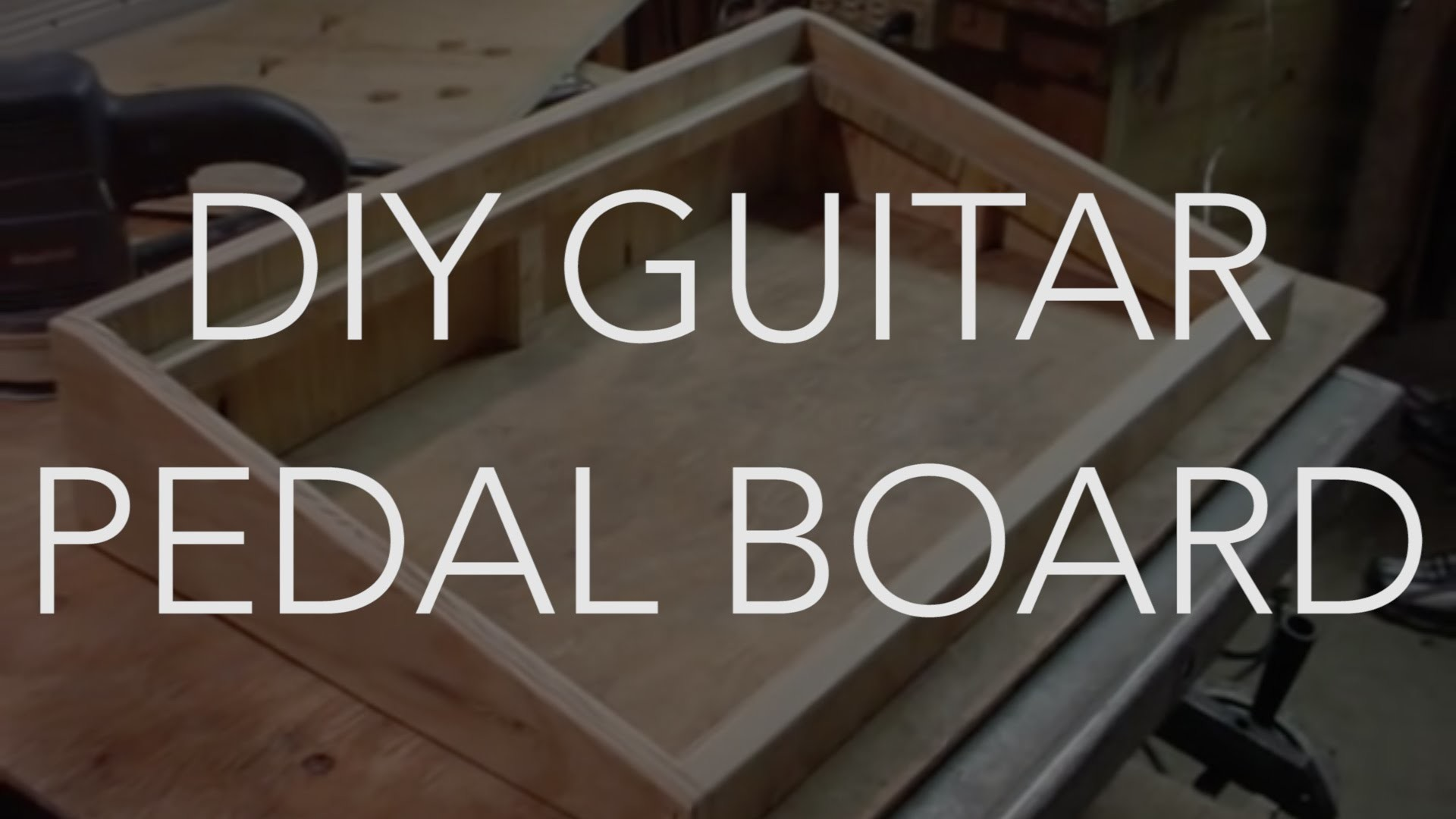 My New Do It Yourself Home Made Guitar Pedal Board DIY