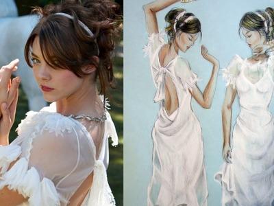 Natalie Dormer for Vanity Fair White sheer dress part2: Advanced Fashion  Illustration