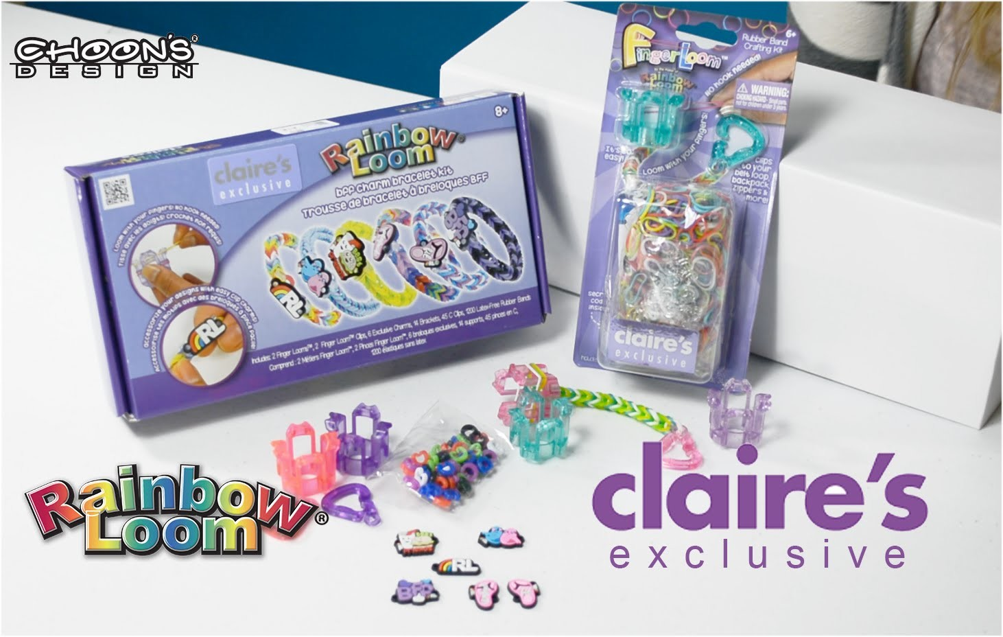 NEW Rainbow Loom® BFF Charm Bracelet Kit and Exclusive Colors Finger Looms.