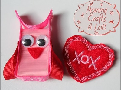 """OWL"" always love YOU hair clip tutorial (how to make an owl clippie)"
