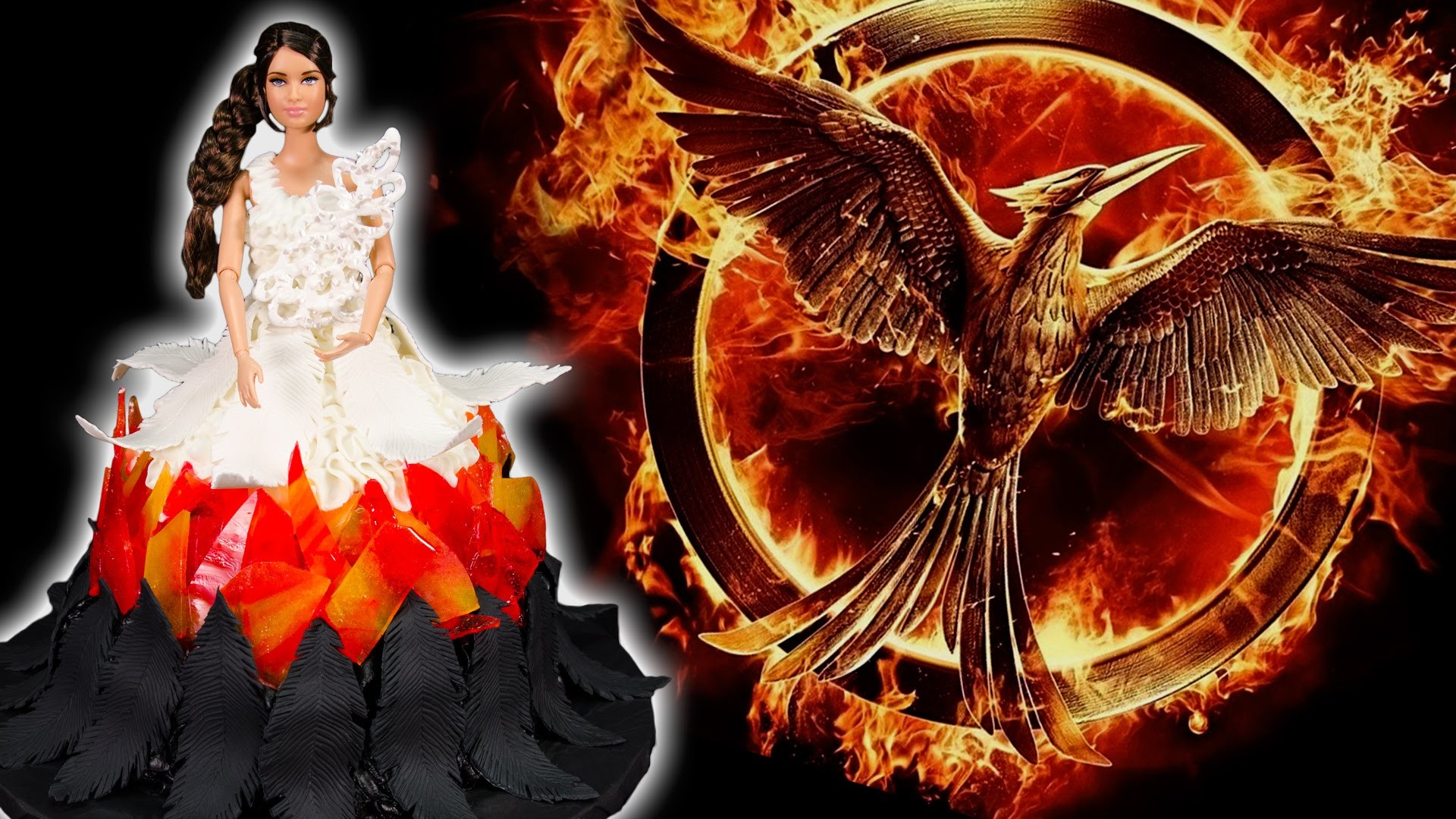 The Hunger Games: Mockingjay Cake (Katniss Wedding Dress Cake) from Cookies Cupcakes and Cardio