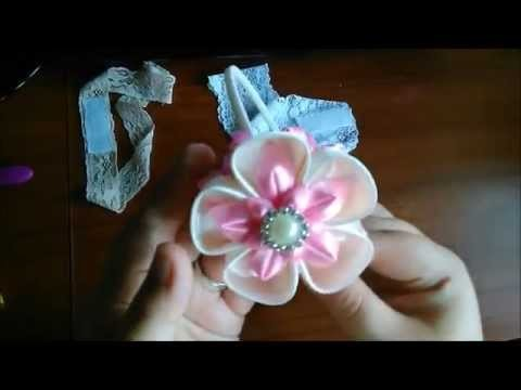 3 headbands 1 kanzashi flower ;)