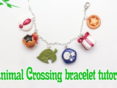 Animal Crossing: New Leaf polymer clay charm bracelet tutorial. timelapse