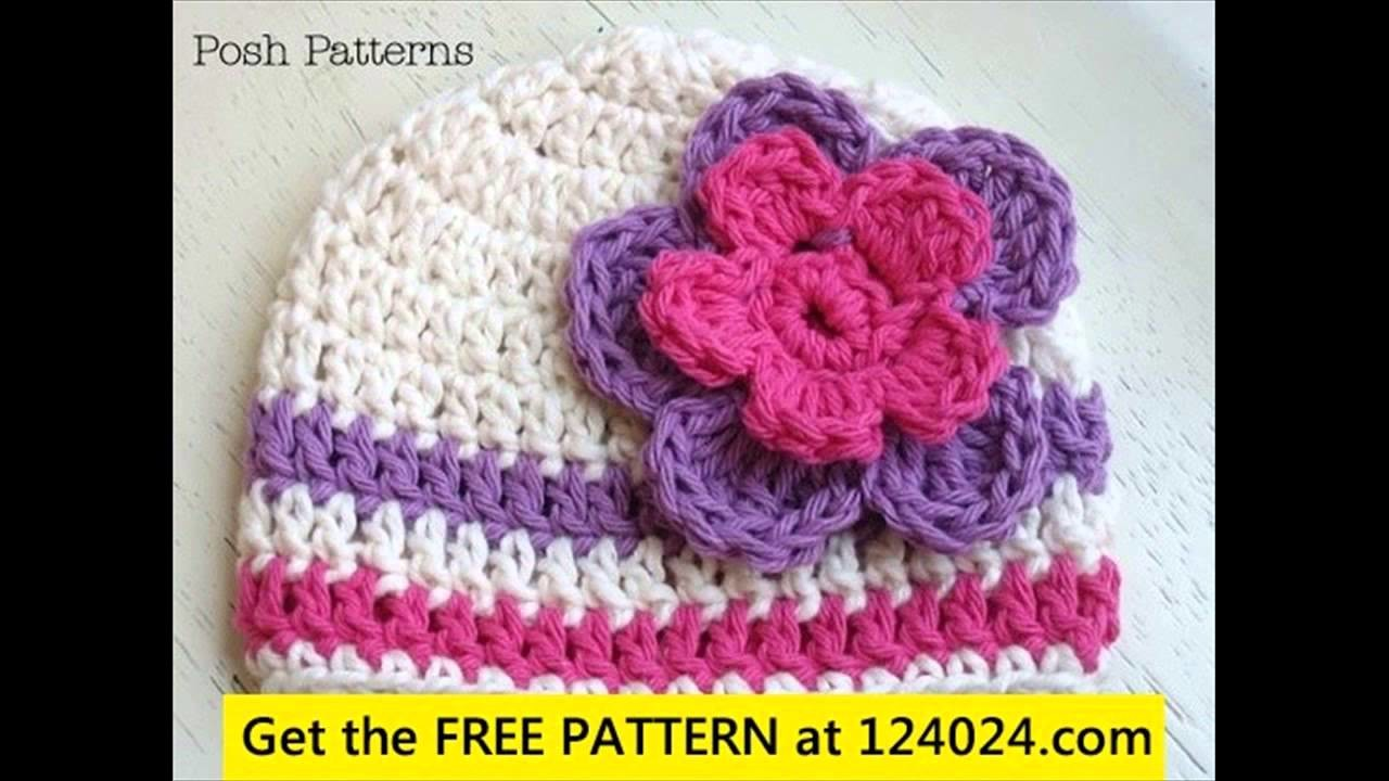 Baby girl crochet hat instructions