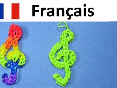 Bracelet Elastique || Clé de Sol || Rainbow Loom Francais Tuto. Loom Bands