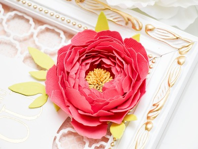 Creating a Peony Flower  as a Card Embellishment