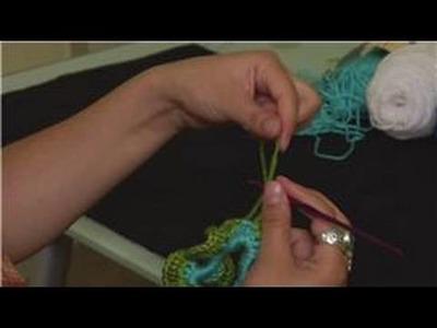 Crochet a Crinkle Scrunchie : Crocheted Crinkle Scrunchie Finish