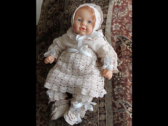 Crochet dress| How to crochet an easy shell stitch baby. girl's dress for beginners 50