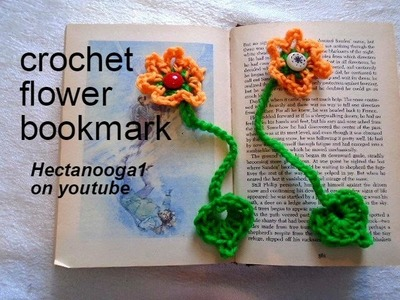 CROCHET: flower bookmark, Easy beginner project, teacher gift