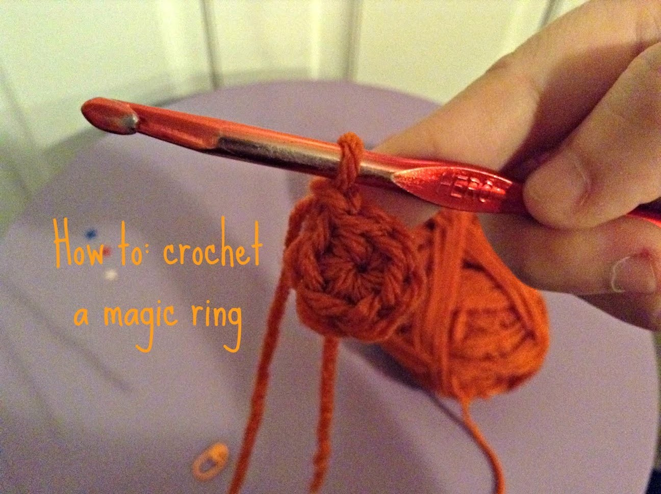 Crochet: Magic ring tutorial
