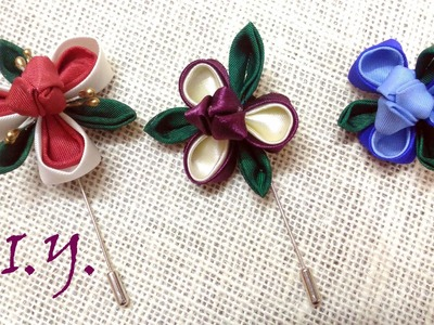 ❃ ❀ ❃ D.I.Y. Kanzashi Lapel for ThanksGiving ❃ ❀ ❃