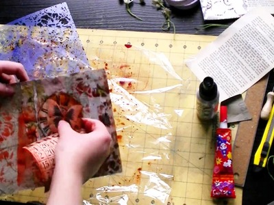 Dimensional journal pages with Scraps of Darkness Kit