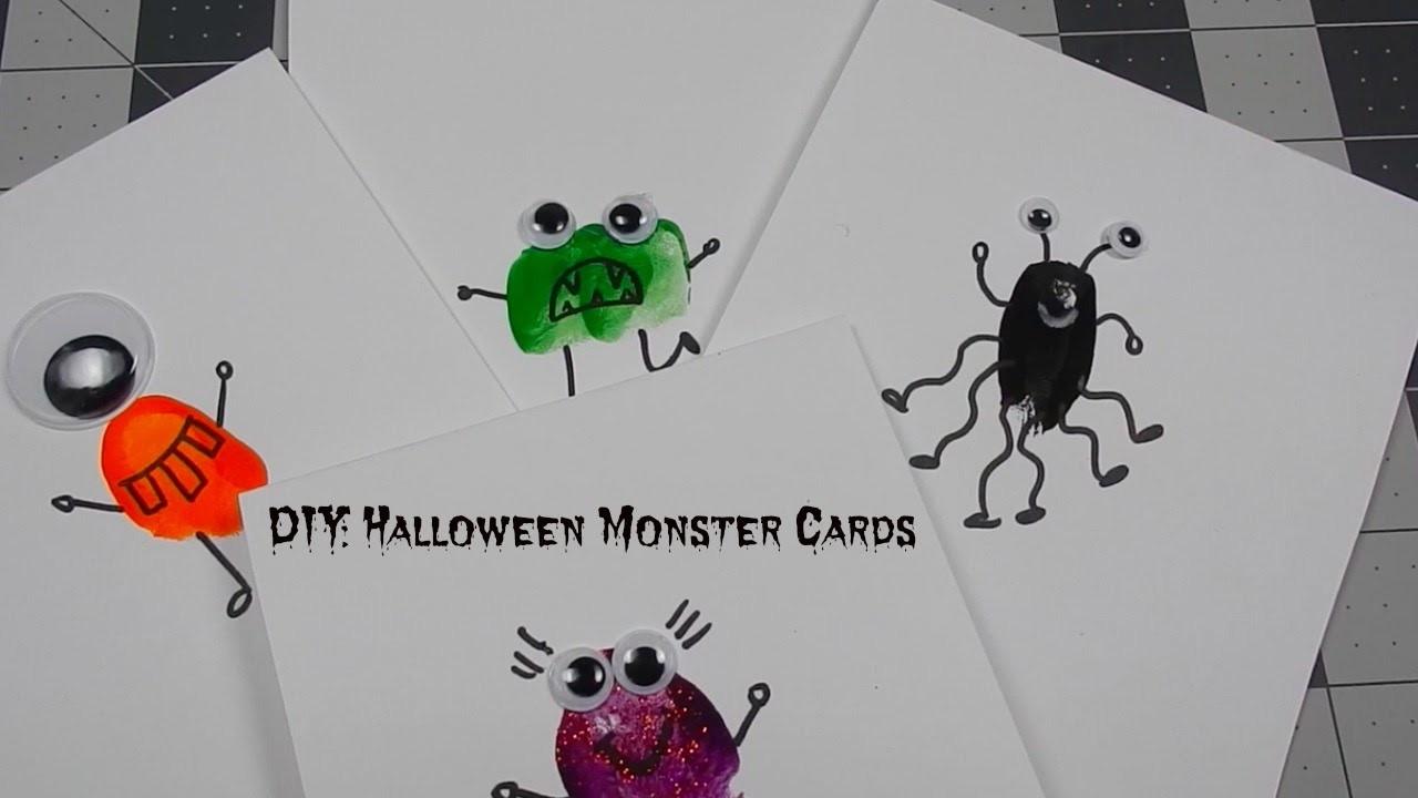 DIY: Halloween Finger Paint Monster Cards