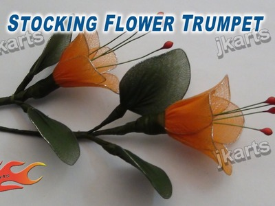 DIY How to make Stocking Flower Trumpet - JK Arts 215