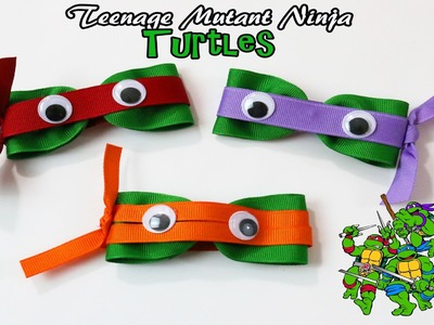 DIY Teenage Mutant Ninja Turtle hair clips | TMNT hair bows