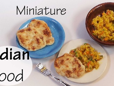 Easy Indian Food; Naan & Tawa Pulao - Polymer Clay Tutorial