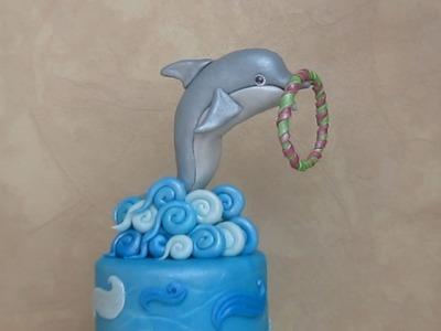 Fondant Dolphin Cake Topper - Delfino in pasta di zucchero per torta