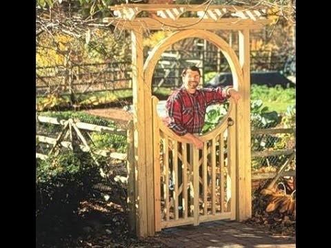 Garden Gate - Part 1 - New Yankee Workshop Norm Abram
