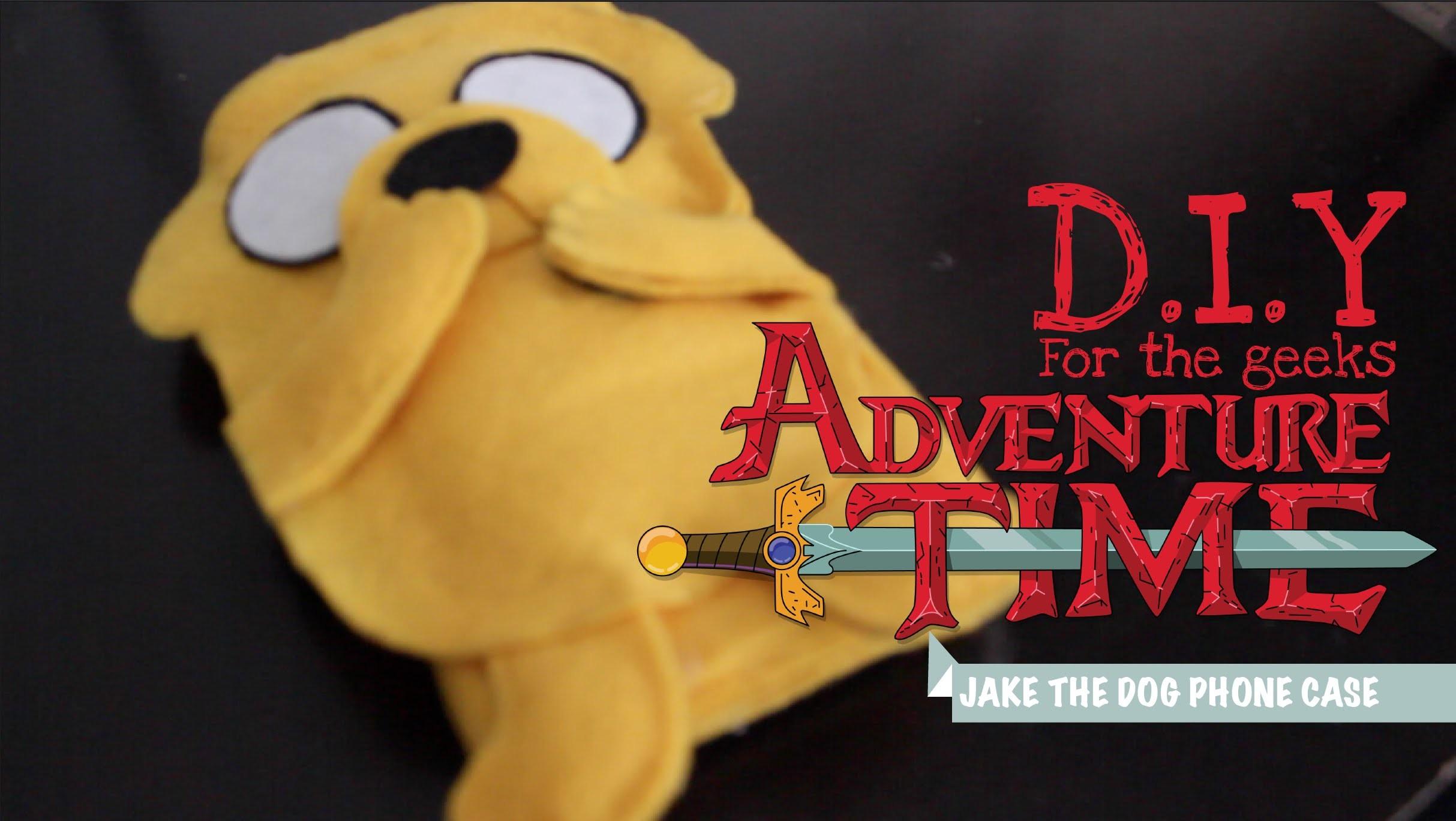 HeartOfGeek DIY: Easy Jake the Dog Felt Phone Case (Adventure Time)