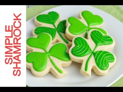 How To Decorate Simple Shamrock Cookies with Royal Icing
