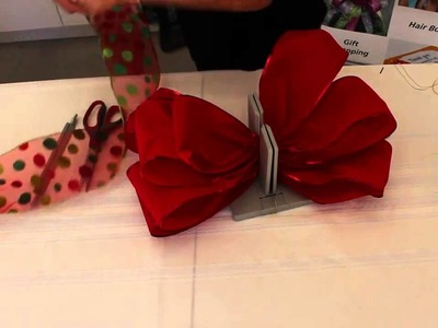 How to Make a Large Red Bow with Bowdabra