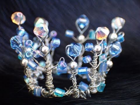 How to Make a Miniature Tiara for fairy or Barbie garden-of-imagination.com