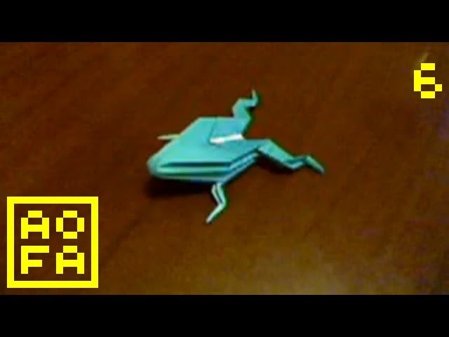 How to make an Origami Jumping Frog . for all (06)